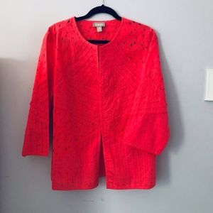 Chicos Jacket - Coral Size 3 (XL)